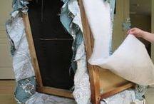 Chairs & other furniture - old to new / Oude stoelen stofferen, andere manieren om meubels van oud weer nieuw te maken