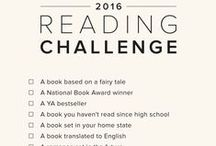 2016 Reading Challenges / Have you ever done a reading challenge before? It can be a great way to get out of your comfort zone and try new things. Take a look at the challenges below, and maybe you'll commit to one (or more) for this year!