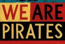 Pirates! / Ahoy, matey! Check out these piratical fiction books for teens and adults, all available at Curtis Memorial Library!