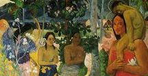 Paul Gauguin / Eugène Henri Paul Gauguin was a French post-Impressionist artist. Underappreciated until after his death, Gauguin is now recognized for his experimental use of color and synthetist style that were distinctly different from Impressionism. 1848-1903
