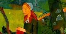 Paul SERUSIER / Paul Sérusier was a French painter who was a pioneer of abstract art and an inspiration for the avant-garde Nabis movement, Synthetism and Cloisonnism. 1864 -1927