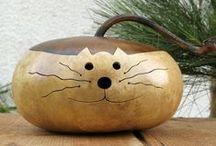 D I Y: ΑΠΟΞΗΡΑΜΕΝΕΣ ΚΟΛΟΚΥΘΕΣ / Gourds crafts