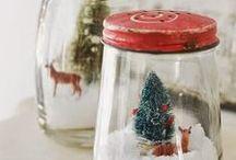 Χριστουγεννιάτικες ΧΙΟΝΟΜΠΑΛΕΣ / Handmade christmas snowglobes