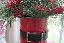 ΧΡΙΣΤΟΥΓΕΝΝΙΑΤΙΚΕΣ ΚΑΤΑΣΚΕΥΕΣ από ΚΟΝΣΕΡΒΟΚΟΥΤΙΑ / Christmas tin can