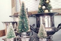 let's trim with bottle brush trees / I guess I like Christmas trees more than I realized! / by Kay Foulke