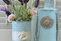 D I Y: ΓΥΑΛΙΝΑ ΜΠΟΥΚΑΛΙΑ / Glass Bottles DIY
