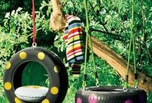 ΠΑΙΧΝΙΔΟΚΑΤΑΣΚΕΥΕΣ για την αυλή / Backyard kids games ideas / by Soulouposeto