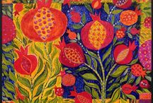 Garden....Pomegranates, figs, cherries, mangoes....mainly Art / by Carolynruth