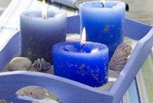 ΚΑΛΟΚΑΙΡΙΝΕΣ ΣΥΝΘΕΣΕΙΣ ΜΕ ΚΕΡΙΑ / Candle summer centerpieces