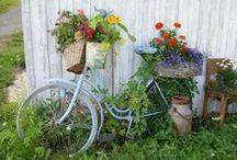 D I Y: ΠΑΛΙΑ ΠΟΔΗΛΑΤΑ-ΚΑΡΟΤΣΙΑ / Old bikes and wagon into garden