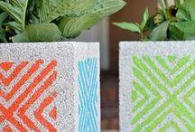 ΓΛΑΣΤΡΕΣ ΑΠΟ ΤΣΙΜΕΝΤΟΛΙΘΟΥΣ / Cinter blocks planters