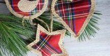 ΧΡΙΣΤΟΥΓΕΝΝΙΑΤΙΚΕΣ ΙΔΕΕΣ με ΛΙΝΑΤΣΑ / Bulrap christmas ideas