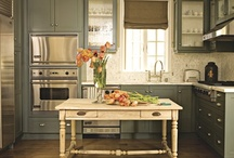 Kitchens / Don't have the money and/or time to replace kitchen cabinets?  Painting or refacing cabinets is an inexpensive way to give an updated look and feel!