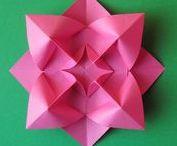 Origami flowers: my designs
