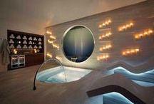 Heavenly Spa Ideas / Ideas to make a bathroom have the serene spa feeling.
