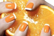 Orange Nails / Do you  love Orange?  Check out these colors!