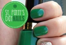 St Patty's Day Nails! / Come on in to Faith Spa or Faith Nails to get these designs for St Patty's Day!