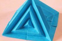 Geometric origami, my design / Origami by Francesco Guarnieri. Origami designed and folded by me.