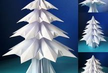 Origami Trees: My design / Origami by Francesco Guarnieri. Origami designed and folded by me.