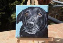 Μy paintings / Custom pet portraits www.etsy.com/listing/219798890/custom-portrait-pet-portrait