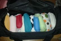Traveling Nappy Demo Kit / This Demo kit is making the rounds. Get in touch if you'd like to see a selection of cloth nappies in your county -and talk to other using them!  http://www.clothnappylibrary.ie/demo-calendar.html