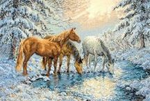 Ristipistoja - hevosia I