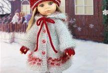 *1poupees vetements tricotes / vêtements pour poupées en tricot et crochet