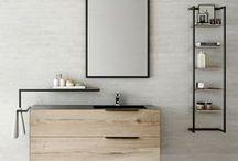 Meuble bois et métal style urbain / Meubles sur-mesure de salle de bains design Bois Métal.