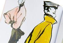 Mode illustraties / Fashion tekeningen