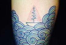 waves / Waves drawings, paintings, engraving, tattoo, ink