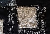 embroidery weaving stitching / Stitching and weaving ideas