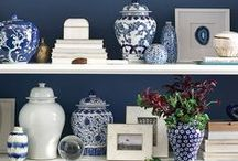 Blue & White / A place for two colour - based on my ginger jar obsession