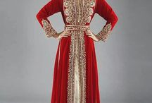 Moroccan kaftans / Caftani dal Marocco / In the Maghreb a Kaftan is one piece dress worn by women. There are typical versions of maghrebi Kaftans called Takshita, Djellaba, etc composed of two or more pieces plus a belt