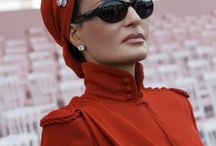 Royals: Sheikha Mozah of Qatar / Mozah bint Nasser Al-Missned (born: 8 August 1959) is the second of three wives of Hamad bin Khalifa Al Thani, former Emir of Qatar. She is considered one of the most powerful women in the Arab world. She customizes haute couture designs to fit Qatari modesty rules