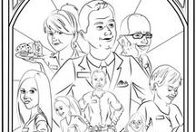 Coloring Pages, BW Coral Hills / Coloring Pages of the Best Western Coral Hills Staff and surrounding area