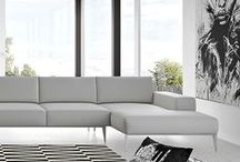 Modloft Living Room / Things we're designing for your MODLOFT contemporary living room, from sofas, lounge chairs, occasional tables, media cabinets, and accessories.