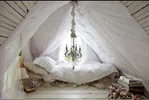 bedrooms / Soft, cozy, comfortable and warm. / by Tammy McGhee