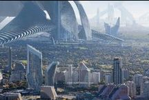 Concept - Sci Fi Architecture / Future buildings.