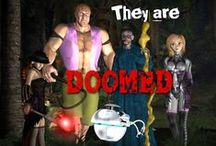 They are Doomed / Character images for a graphic story