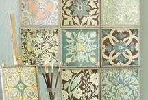 Scrapbook Paper Wall Art and Home Decor