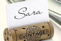 Wine Cork Crafts & Art / Beautiful craft ideas around the wine bottle and wine cork.