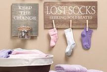 HOME: Laundry Leisure / Laundry Room Decoration Options