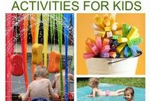 "Fun Summer Ideas / Before long summer will be here and the children will be proclaiming their ""boredom"" here are some great summer activities to keep them occupied.  Summer time has the potential to me the most educational with science activities, sensory activities and crafts."