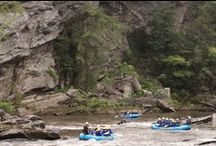 Chattooga Rafting / Whitewater rafting on the Chattooga River; a Wild and Scenic River that creates the border between SC and GA.