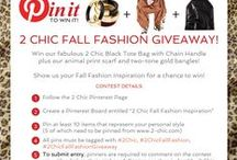 """WINNER:  Allyson Becker! / Allyson Becker We are pleased to announce you are the winner of our first """"Pin it to Win it"""" Contest!  Our 2 Chic stylists were impressed with the way you incorporated our 2 Chic accessories with fabulous color trends!  Contact us to claim your prize at email: info@2-chic.com and include your full mailing address!"""