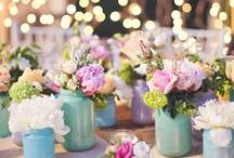 Event Ideas - Wedding / Weddings!  Beautiful decorations using mason jars!  Find DIY's and wedding decor tutorials on this board!