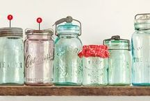 Jar Nostalgia / Love the old, classic jars?  A collection of that nostalgic look.   Either true antique or some simple DIY hacks.