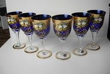 Wine Glasses / I have a thing for wine glasses.  Love the shapes, the designs, and the colors.