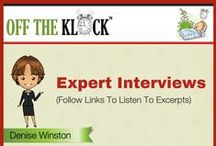 Off The Klock Expert Interviews / Expert Audio Interviews - Read the Interview Announcement Posts -http://www.offtheklock.com/category/financial-freedom/talking-with-the-experts/ and listen to excerpts. Full interviews are published bi-monthly on the even months at Offtheklock.com in the Passive Income Development Lab.