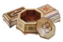 Khatam boxes / Here you can find exclusive brilliant handcrafted Khatam jewelry box, tissue box and wide range of glorious boxes with various functions.
